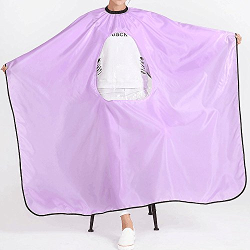 HEHEN Salon Hairdressing Hairdressing Cape Gown with Viewing Window (Purple) by HEHEN