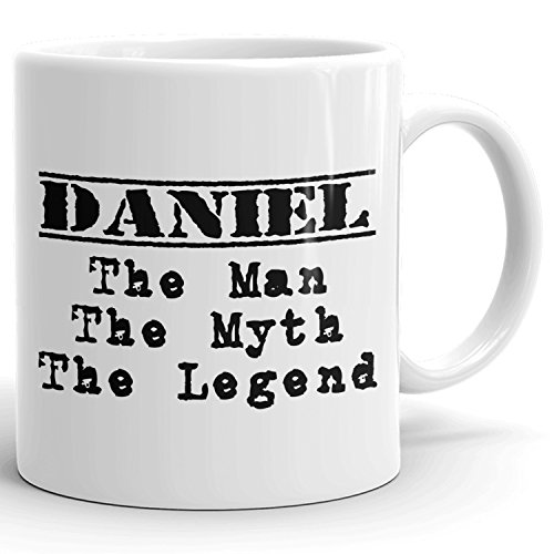 Best Personalized Mens Gift! The Man the Myth the Legend - Coffee Mug Cup for Dad Boyfriend Husband Grandpa Brother in the Morning or the Office - D Set 1