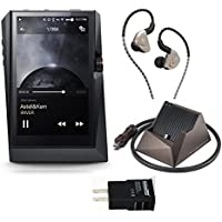 Astell&Kern AK380 (Black) High Resolution Digital Audio Player with Docking Cradle & Fidue A83 FB Extreme Audio Edition IEM with Balanced Connector