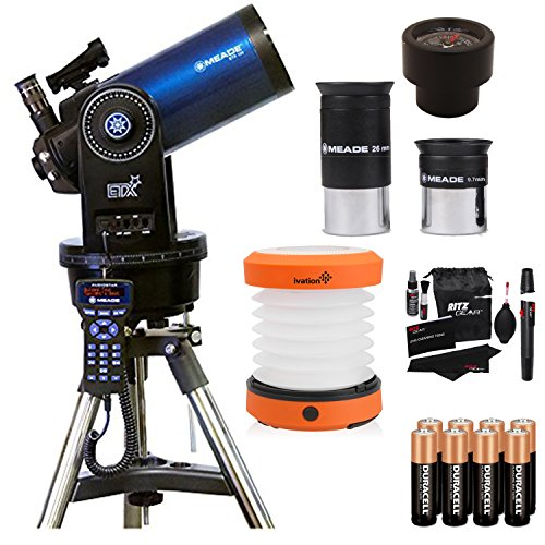 Meade Instruments ETX125 Observer Telescope and Tripod (205005), Ritz Gear Cleaning Kit, Ritz Gear Cleaning Kit, 8 Duracell Alkaline Batteries & LED Camping Lantern by Ritz Camera