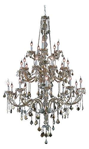 (Elegant Lighting 7825G43Gt-Gt/Ss Swarovski Elements Smoky Golden Teak Crystal Verona 25-Light, Three-Tier Crystal Chandelier, Finished in Golden Teak with Smoky Golden Teak Crystals)