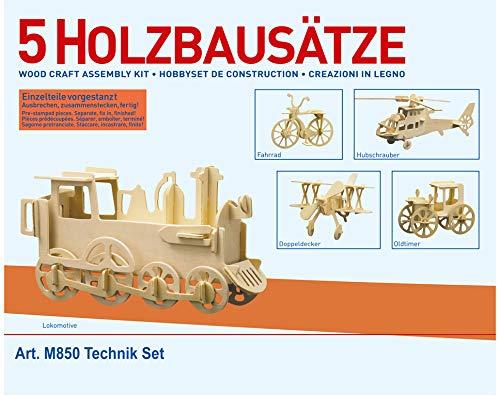 Donau Elektronik M850 Wood Design 5 pcs. Technic, Multi-Colour