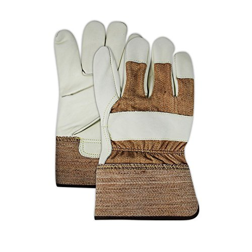 Magid Glove & Safety TB525E-XL Magid DuraMaster TB525E Select Cow Grain Leather Palm w/PE Cuff, 2XL, Brown, XL (Pack of (Select Grain Leather)
