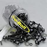 Pro-Bolt Tubs And Workshop Kits - 100-Piece Metric Dome Head/Black