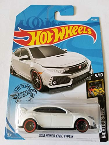 Hot Wheels Nightburnerz 2018 Honda Civic Type R, White 171/250