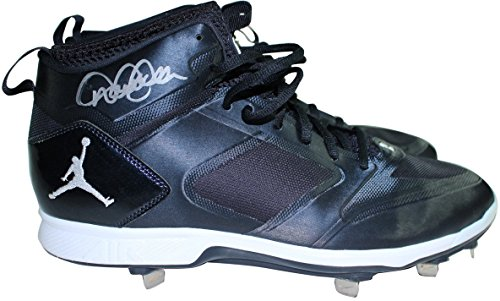 Derek Jeter Signed 2014 Game Used Blue & White Cleats (Pairs) Size: 11.5