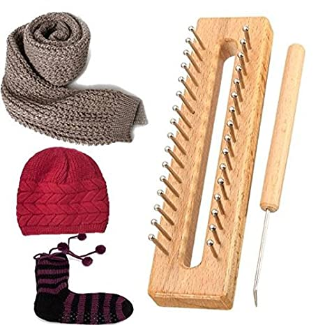 Diseño de madera bufanda sombrero calcetines de lana para tejer en telar Kit de herramientas de bricolaje Craft tejido de madera: Amazon.es: Juguetes y ...