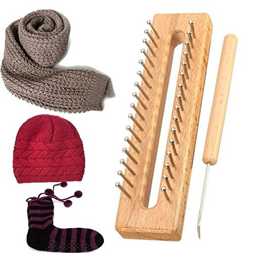 Saver Wooden Scarf Hat Socks Wool Yarn Knitting Loom DIY Craft Wooden Weaving Tools Kit