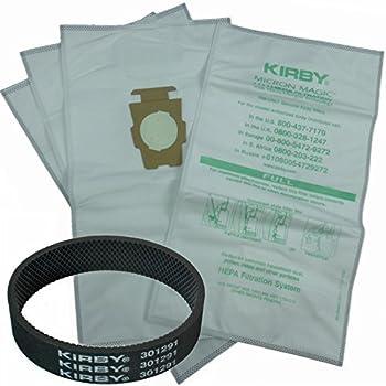 4 kirby allergen micron magic universal f style turn style vacuum bags u0026 1 belt