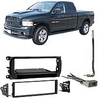 Fits Dodge Ram Pickup 1500 02-05 Single DIN Harness Radio Install Dash Kit