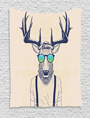 Tapestry Antlers Ambesonne Illustration Creative