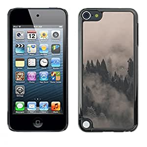 A-type Arte & diseño plástico duro Fundas Cover Cubre Hard Case Cover para Apple iPod Touch 5 (Misty Foggy Forrest)
