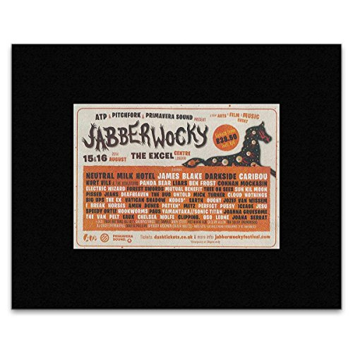 JABBERWOCKY - James Blake and Neutral Milk Hotel Matted Mini Poster - 10x21cm (Neutral Milk Hotel Poster compare prices)