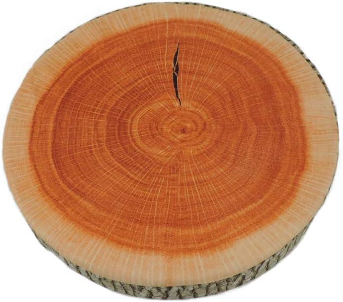 NOVELTY GIANT WWW.NOVELTYGIANT.COM Wood Log Slice Realistic Soft Velvet Foam Pillow