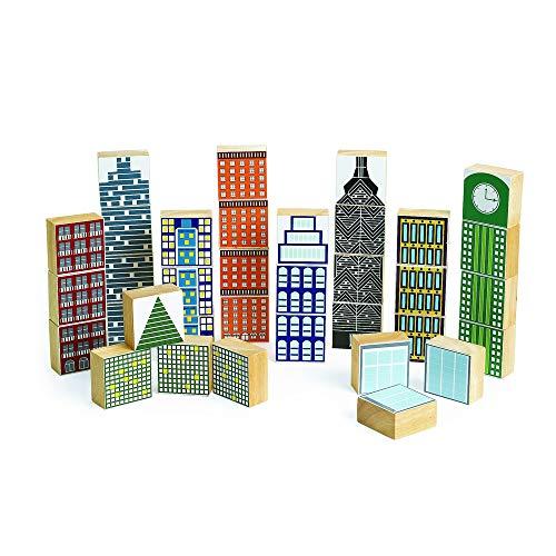 - Excellerations Skyline Wooden Skyscraper Blocks (Pack of 35)
