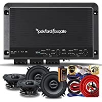 Rockford Fosgate R250X4 Prime 250 Watts 4-Channel Amplifier + (4) Alpine SPS-510 5.25 2-way Car Audio Speakers + Amp Kit