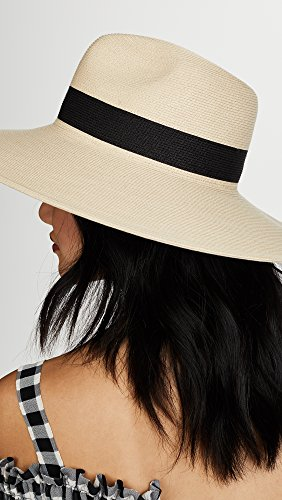 Hat Attack Women's Fine Braid Inset Continental Hat, Natural/Black, One Size by Hat Attack (Image #4)