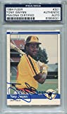 Tony Gwynn San Diego Padres PSA/DNA Certified Authentic Autograph - 1984 Fleer (Autographed Baseball Cards)