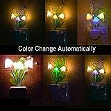 Hot Tuscom Romantic Colorful Sensor Mushroom Leaf LED Night Light,for for Bedroom,Home,Bars, Cafes Decoration (Multicolor)