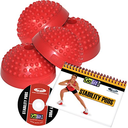 GoFit GF-BSTEP Stability Pods with DVD & Flip Chart