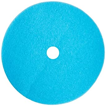 """Glit 29757 TK Polyester Blend Blue Ice Burnishing Floor Pad with 3-1/4"""" Center Hole, Synthetic Blend Resin, Kaolin Grit, 1000 to 3000 rpm, 27"""" Diameter (Pack of 2)"""