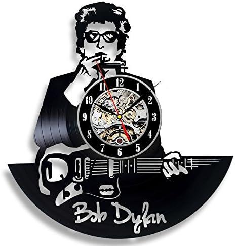 Bob Dylan Art Vinyl Wall Clock Gift Room Modern Home Record Vintage Decoration