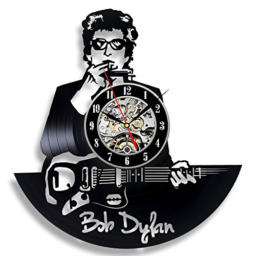 Bob Dylan Art Vinyl Wall Clock Gift Room Modern Home Record Vintage Decoration