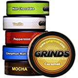 Grinds Coffee Pouches - 6 Can Sampler Pack - Tobacco Free, Nicotine Free Healthy Alternative