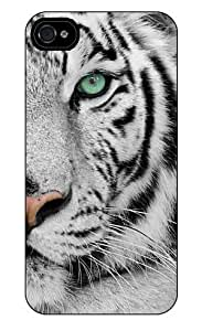 Iphone 4/4S Cover Case Personalised Apple Royal White Tiger ref 2173