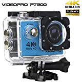 VIDEOPRO Underwater HD Camera 4K WiFi Sports Camera Waterproof DV Camcorder 16MP 2 inch LCD Blue