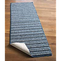 Extra-long Nonslip Striped Runners 120 Blue