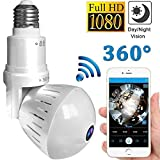 1080P Home WiFi Camera,360 Degree Panoramic Wireless VR Fisheye Security IP Camera