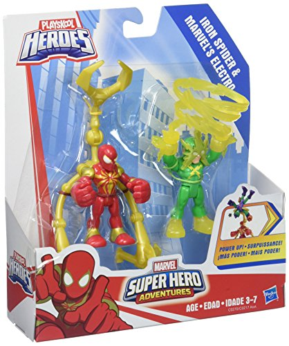 Playskool Heroes Marvel Super Hero Adventures Iron Spider and Marvel's Electro (Heros Spider Marvel)
