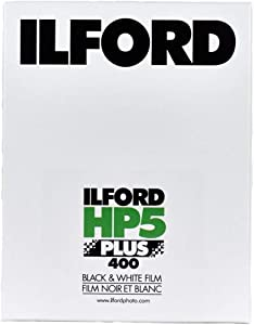 """Ilford HP-5 Plus 400 Fast Black and White Professional Film, ISO 400, 4x5""""-100 Sheets"""