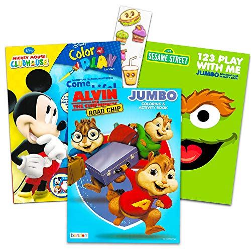 Alvin and the Chipmunks Coloring and Activity Book Set with Stickers (3 Coloring Books, Over 30 Stickers) -