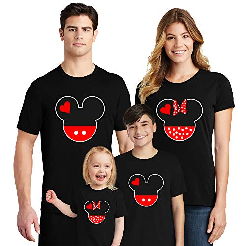Natural Underwear Family Trip #9 Dad Head and Ears 2019 T-Shirts Trip Mouse Mens Crew Neck T Shirts Black Men -