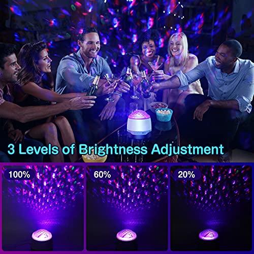 Proyector Estrellas, Ranipobo LED de Luz Nocturna con control remoto yaltavoz de música Bluetooth, Lampara Estrellas Proyector para el ambiente del dormitorio de los niños Fiesta de cumpleaños en casa