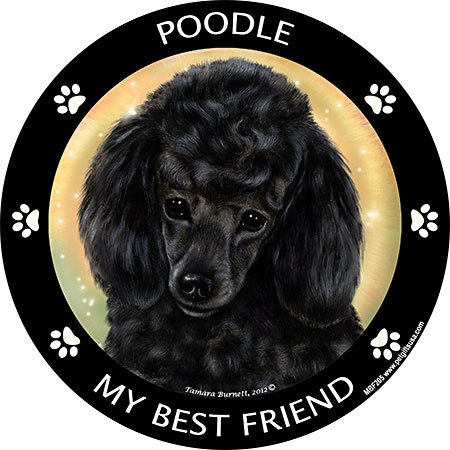 Poodle - Black Best Friend Car, Refrigerator Magnet