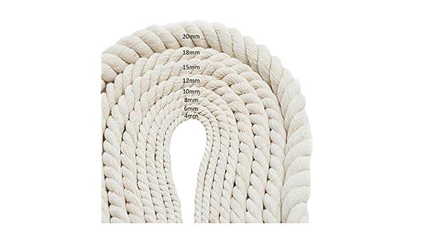 PENTAGON Cuerda de Hilo de macramé de algodón Natural para ...