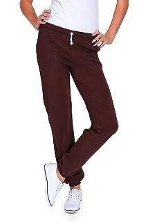 FUTURO FASHION Joggeurs en Polaire de Pleine Longueur Femmes Pantalons de  Gymnastique aux Pochettes DK 4b65b56e9c5