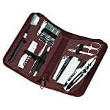 Royce Leather Executive Travel And Grooming Kit,Brown,One Size