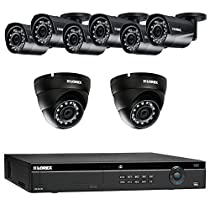 Lorex 16 Channel 4K 4MP 8 Camera Security System NR9163 3TB HDD 6 4MP LNB4421B Bullet Cameras 2 4MP LNE4422B Dome Cameras with Color Night Vision