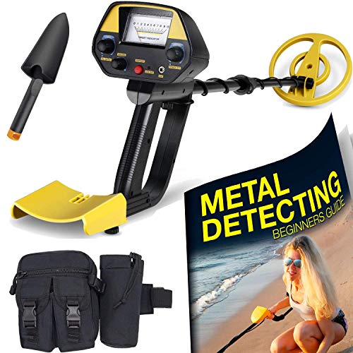 (Ultimate Metal Detector For Adults - Waterproof Pro Detectors With Pinpointer For Kids - High Accuracy Professional Handheld Relic Hunter With Arm Support & Folding Shovel - Perfect Present)