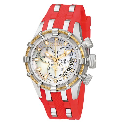 Invicta Women's 6946 Reserve Collection Bolt Chronograph Red Polyurethane Watch