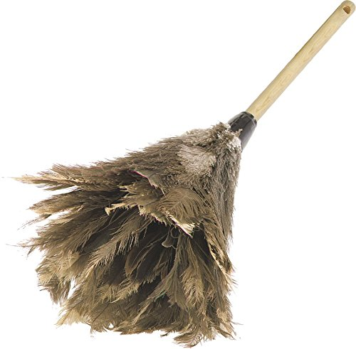 Carlisle 4574300 Wood Handle Feather Duster, 24'' Overall Length, Brown (Case of 12) by Carlisle