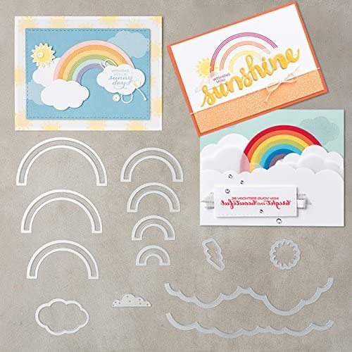 Amazon.com: Sunshine Rainbows Metal Cutting Dies for Scrapbooking Card Making Stencil DIY Craft New 2019 Background Dies