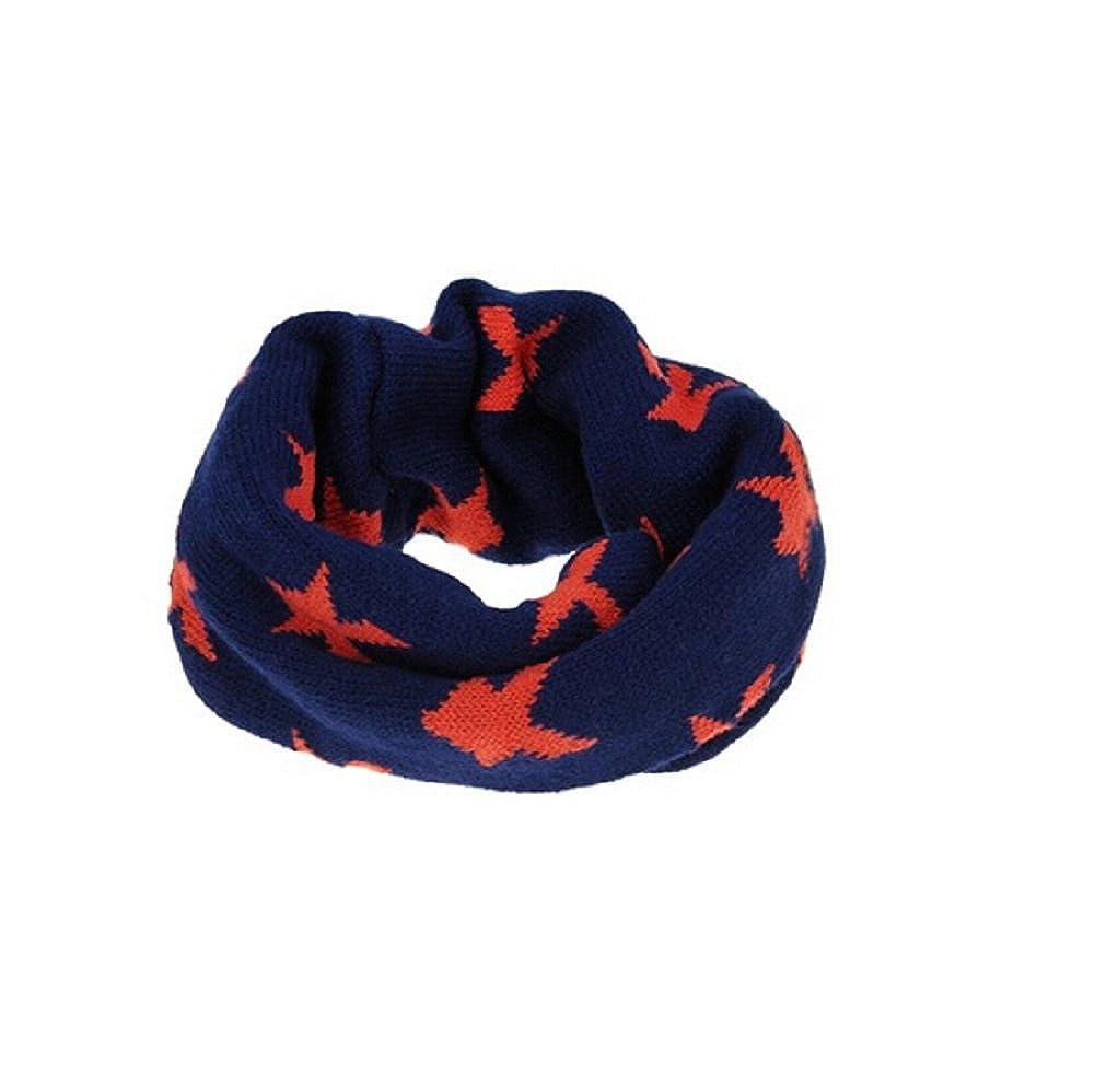 Butterme Mode Jungen Mädchen Baby Kind Herbst Winter warme Knit Unendlichkeit Neck Warmer Kreis Loop Schal mit Stern gedruckt Weihnachtsgeschenk