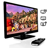 "Pyle 23.6"" 1080p LED TV, Multimedia Disc Player, Ultra HD TV, LED Hi Res Widescreen Monitor w/ HDMI Cable RCA Input, LED TV Monitor, Audio Streaming, Mac PC, Stereo Speakers, Wall Mount (PTVDLED24)"