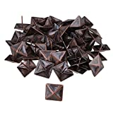 BQLZR Red Bronze Antique Square Upholstery Nails Tack Pyramid Studs Vintage Furniture 30x30mm Pack of 50