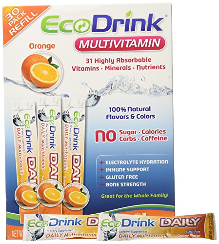 - Ecodrink® Multivitamin Drink Mix 60 Packets (30*2) - (ORANGE Flavor Only)